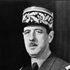 Charles De Gaulle, le 22 avril 1945, s'adressant à Kepa Ordoki et au bataillon Gernika.