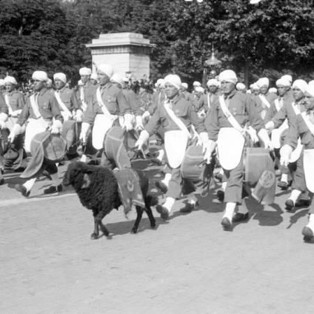 La victoire et les troupes marocaines